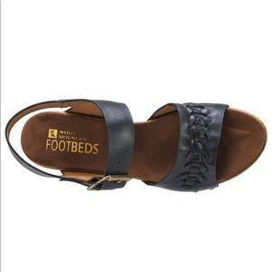 White Mountain Shoes - WHITE MOUNTAIN Altheda Black Clog Sandal SZ 9.5
